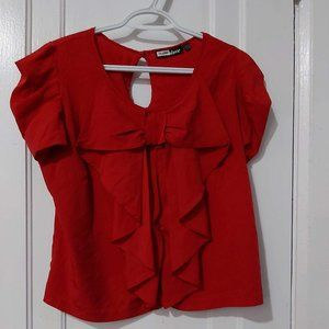 Fun Red Shirt with Bow Detail
